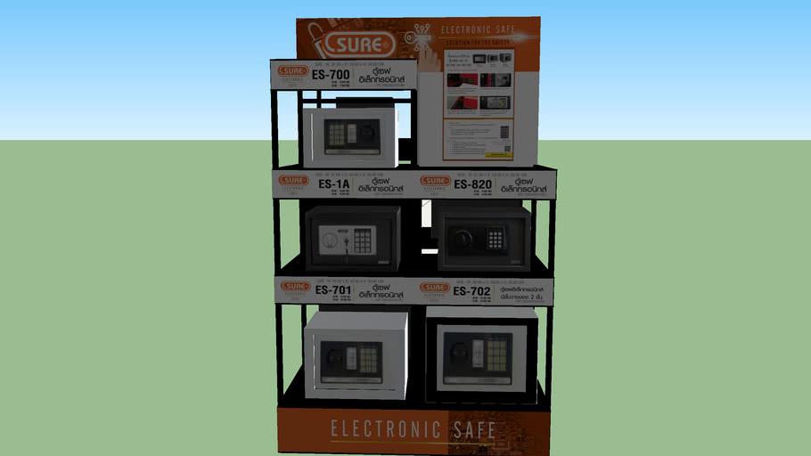 safe sales display