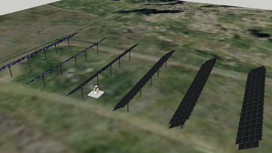 MT Solar Module and Inverter Layout for 100KW Rocky Mountain Labs Projec