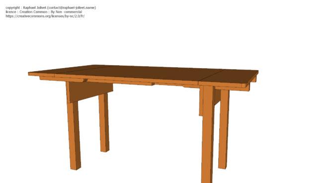 Table basse / haute amovible
