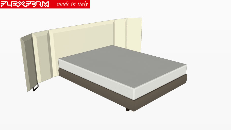 Flexform Antonio Citterio Eden Bed 3d Warehouse