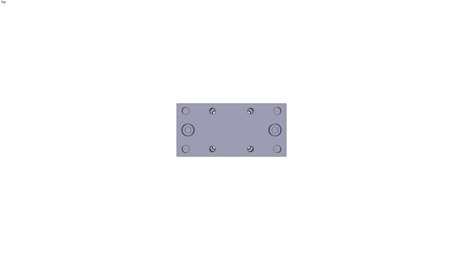 Unité de guidage en H avec douilles...fritté pour vérin ISO 6431 - VDMA Ø32 mm