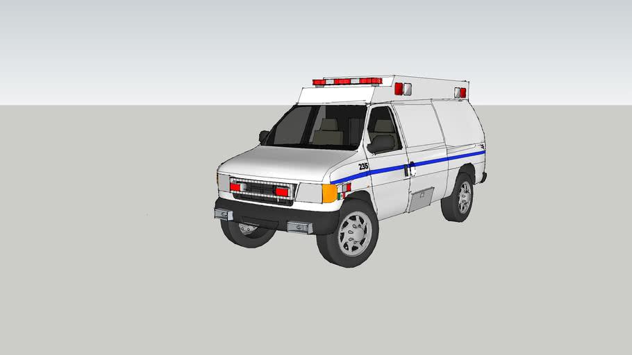 ambulance type ll ford f350 econoline model 2001