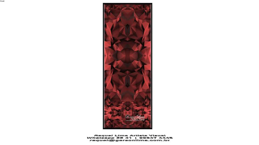 Origami Vermelho - Raquel Lima - 1,60 x 60cm