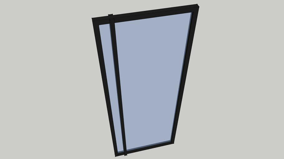 Binnendeur staal-glas 900x2600mm