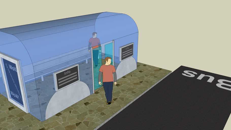Modern Bus Stop   Modern Bus Station