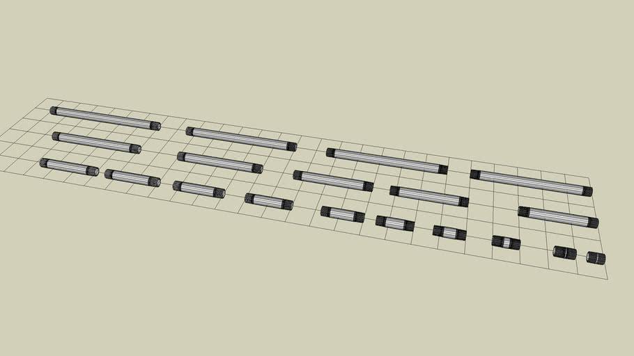 1/2 inch Steel Sch 40 Nipple NPT Fittings