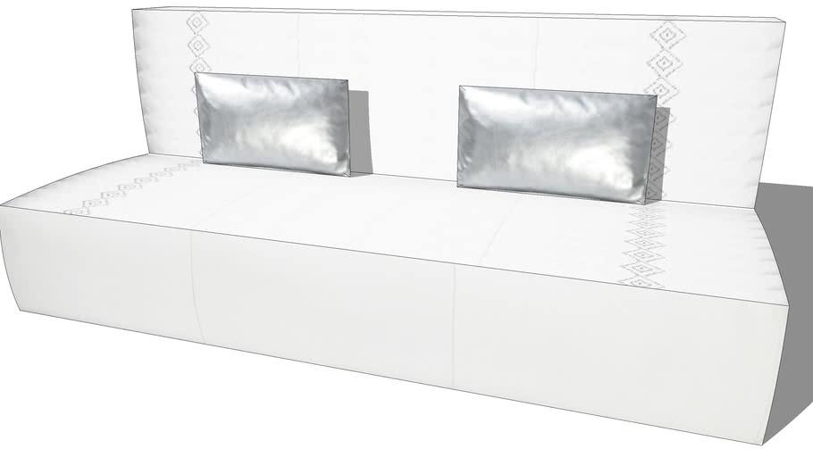 Canapé HAMMAM blanc, Maisons du monde, Réf. 133.142 Prix :999€
