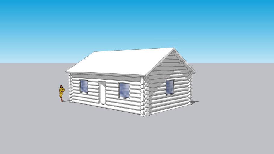 Log Cabin as modeled Live!