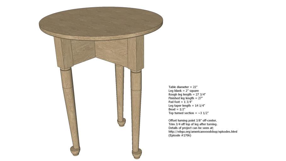 Folding 3 Leg Table