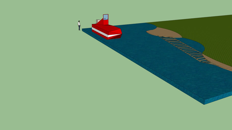 boat w/ beach