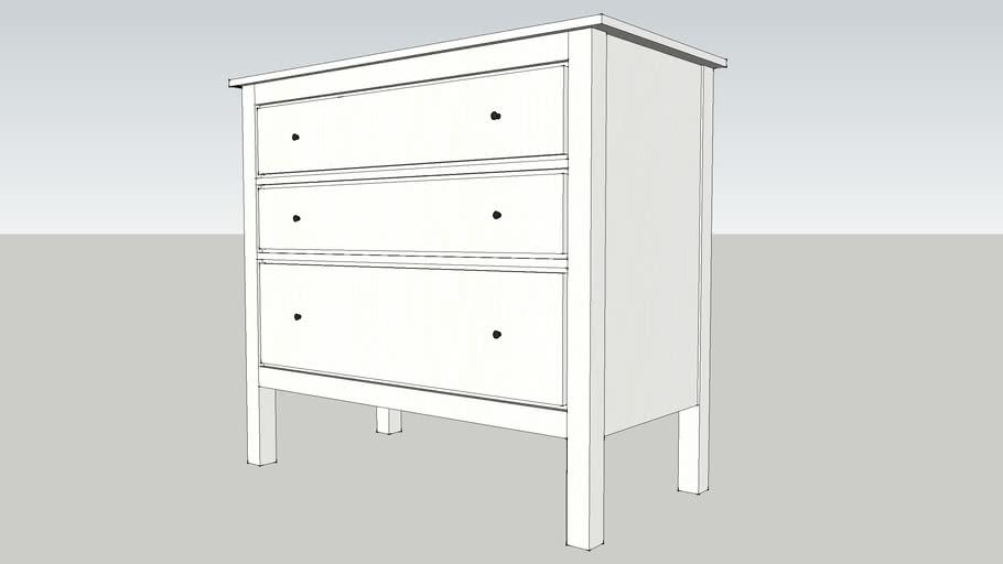 HEMNES cómoda 3 cajones IKEA 108x96cm