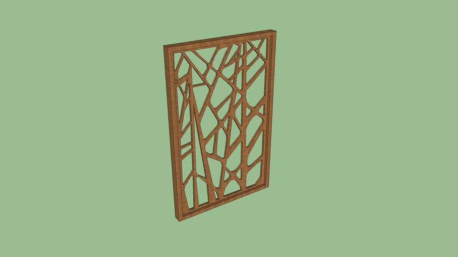 Celosía de madera sin cristal