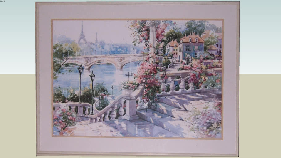 Painting of Garden and Steps