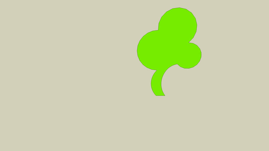 Something that closely resembles a 3-leaf clover (2D)
