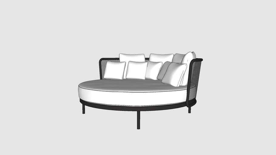 TODUS baza round daybed