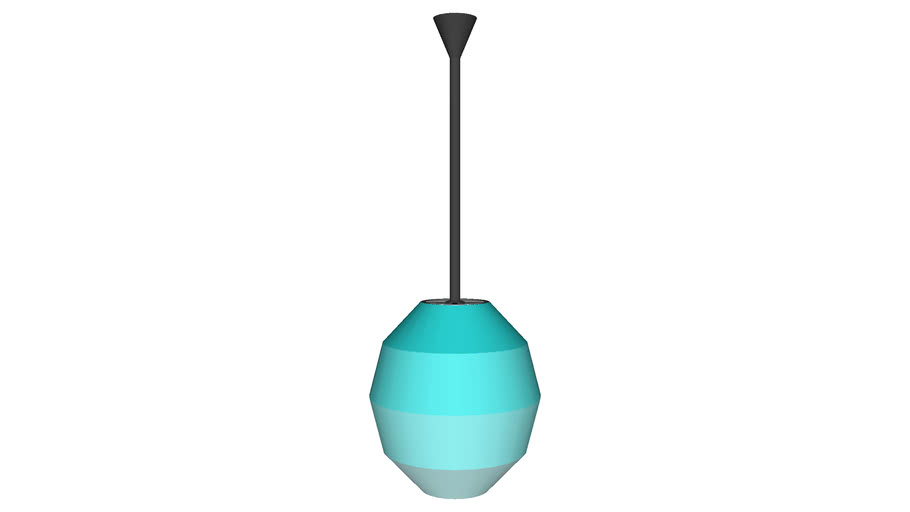 Bulbous Hanging Ceiling Lamp - Detailed