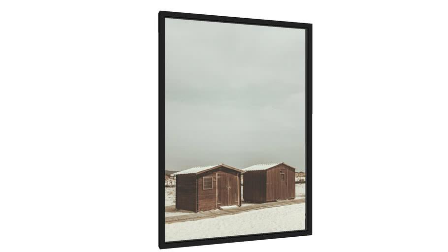 Quadro As Duas Casas na Praia - Galeria9, por Gabriel Palmieri