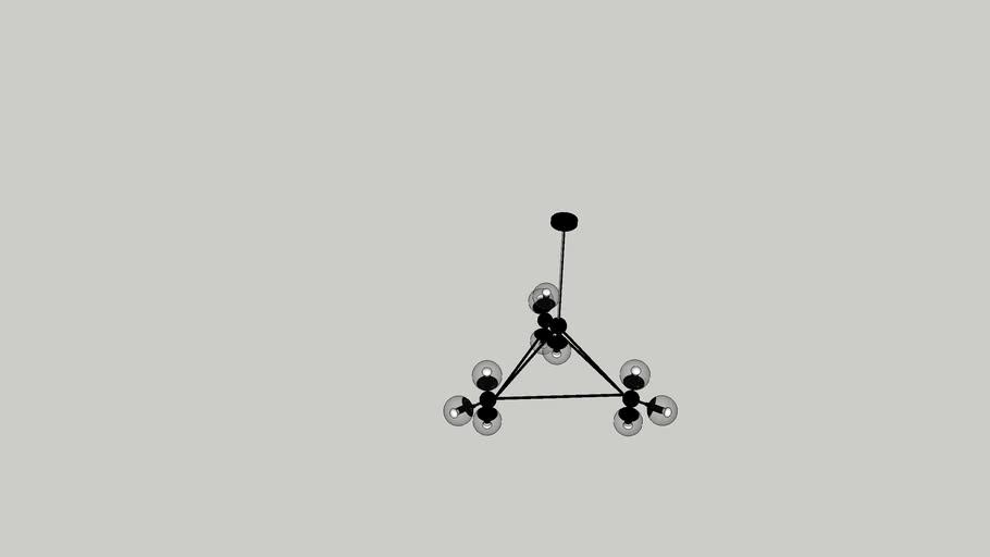 Julius 10-Light Sputnik Chandelier