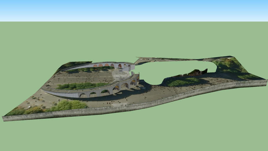Modelo 3D das Basílicas de Lourdes. 1 de 4.