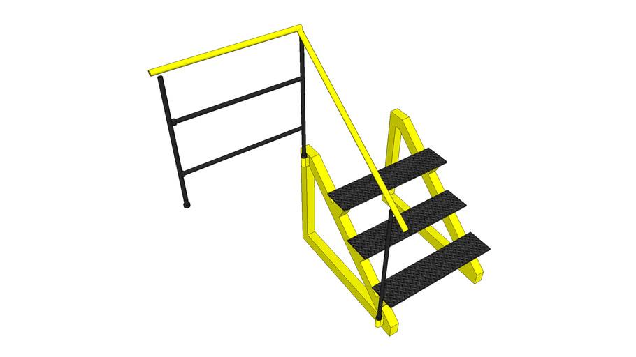 Escada com degrau ante-derrapante