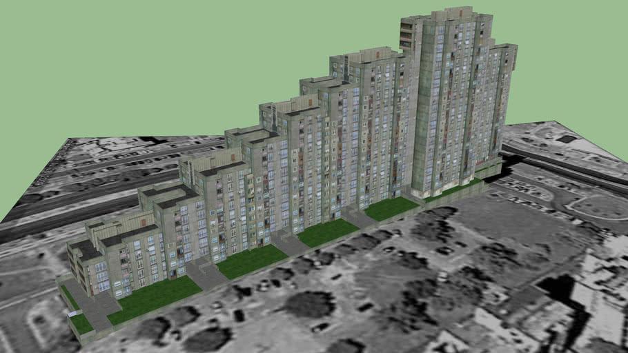 Blok 61, Jurija Gagarina br. 210, 212, 214, 216, 218, 220, Novi Beograd