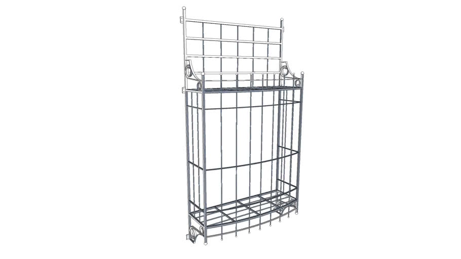 Wrought Iron Window Grill Simple 3d Warehouse