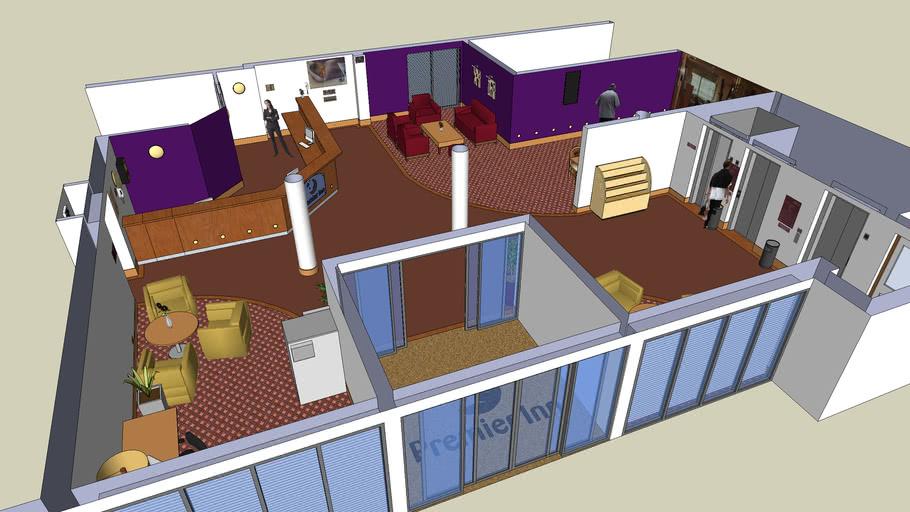 New Interior Design Reception Desk For Hotel 3d Warehouse