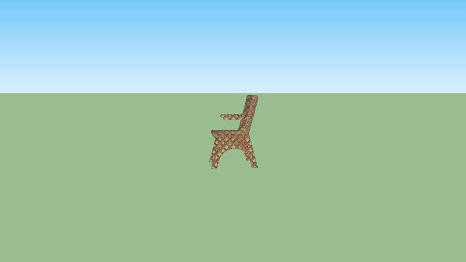 sillón de laminas bambú