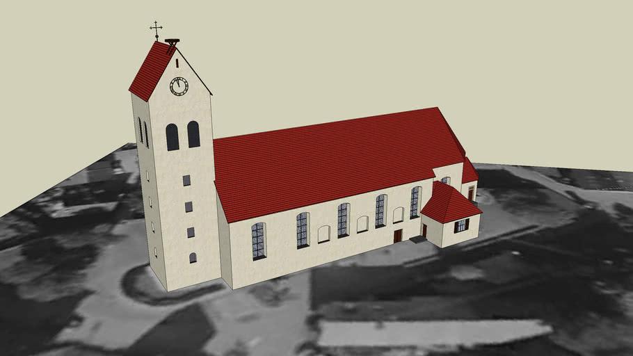Kirche St.Stephan in D-79288 Gottenheim, Breisgau