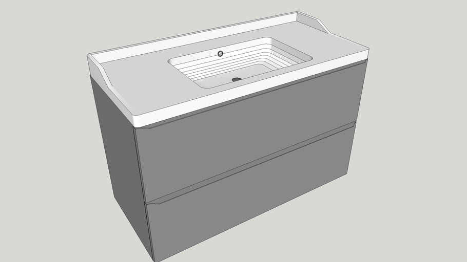 Washing basin with cabinet GoodHome