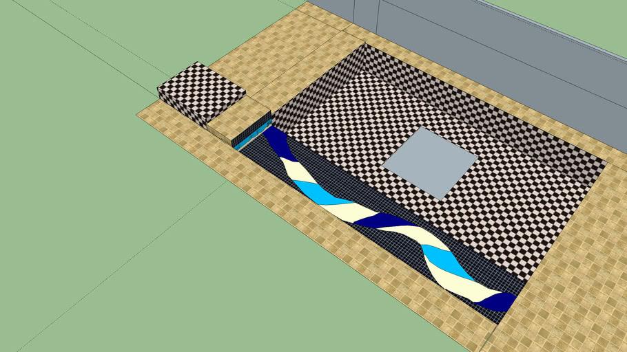 projeto mosaico em piscina REGINA