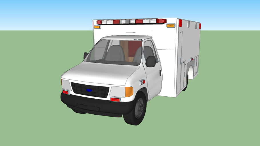 ambulance type lll  ford f350 econoline model 2002