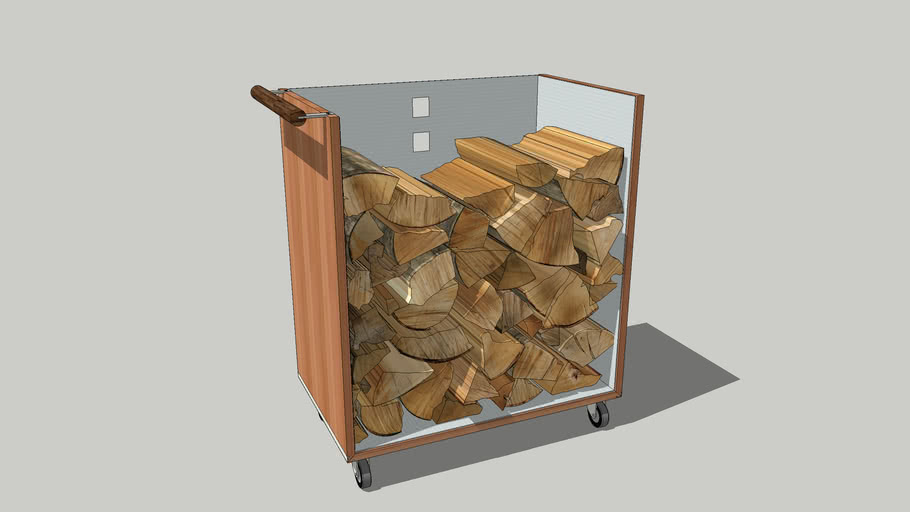 Eichenfrau form 290 Brennholzwagen   Firewoodcart