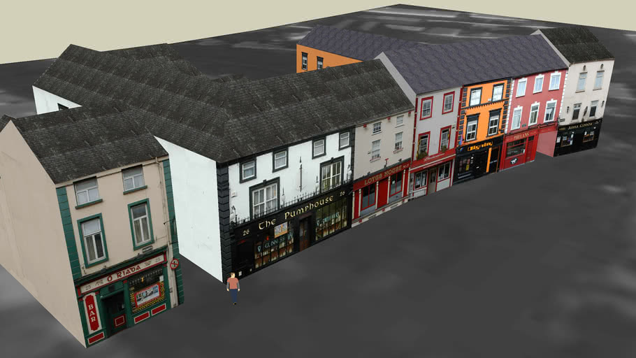 7 Pubs in the row on Parliament Street in Kilkenny