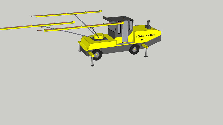 Atlas Copco L3C tunnelling drilling jumbo