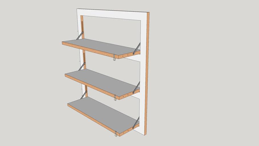 Wall Mounted Shelving_Model by FREELA 3D - Marcos Silveira