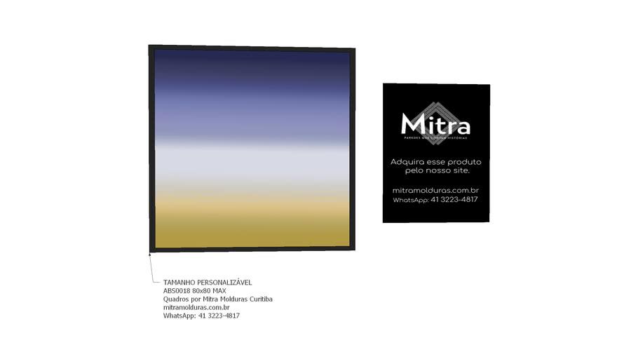 ABS0018 80x80 l Quadro Abstrato l Mitra Quadros Personalizados