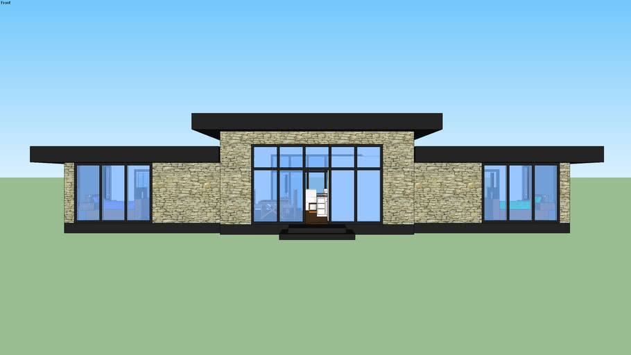 Matching Two Bedroom Contemporary House