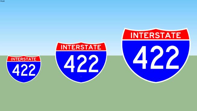 Interstate 422 Sign