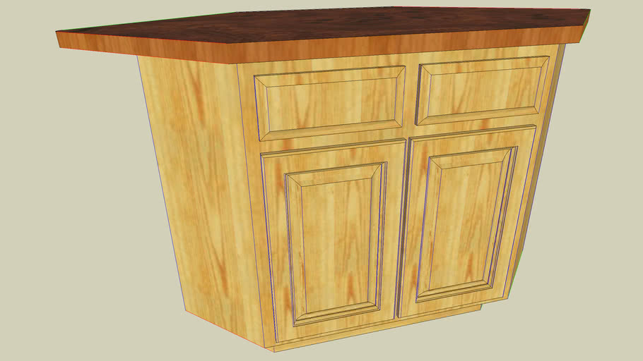angled kitchen island