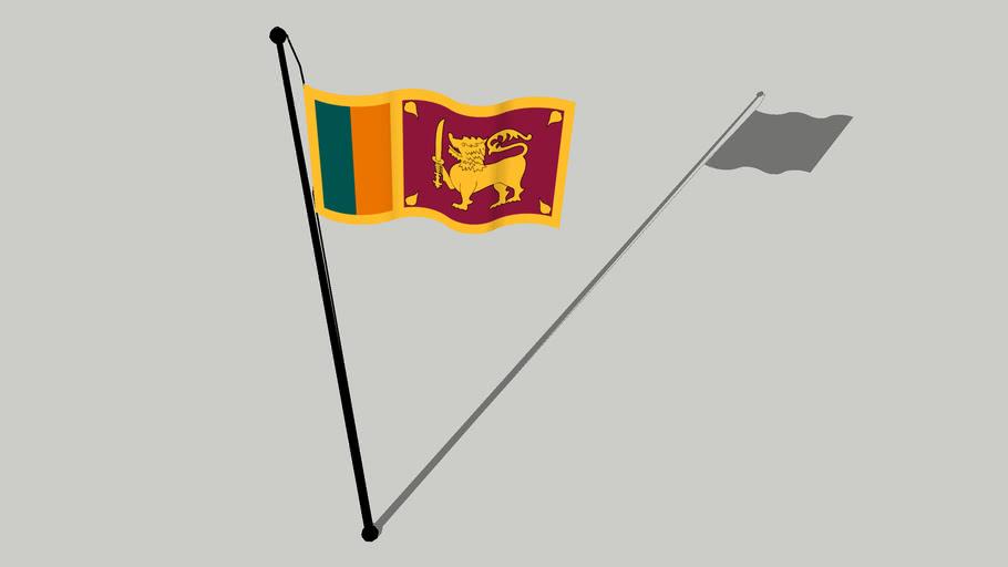 Flag of Sri Lanka - இலங்கையின் கொடி - ශ්රී ලංකාවේ ධජය