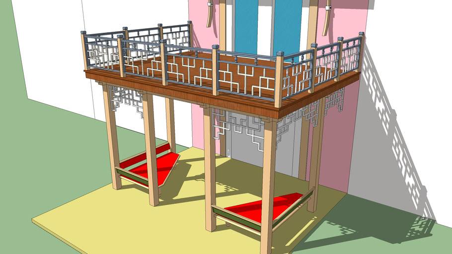 топчаны под балконом