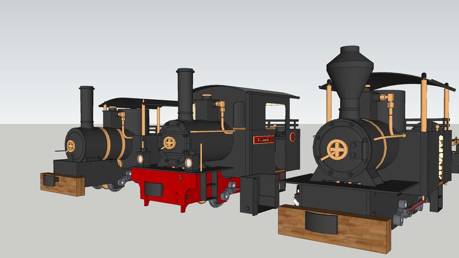 Live steam model Regner Lumberjack locomotive. G gauge. Garden train. Scale: 1:22.5