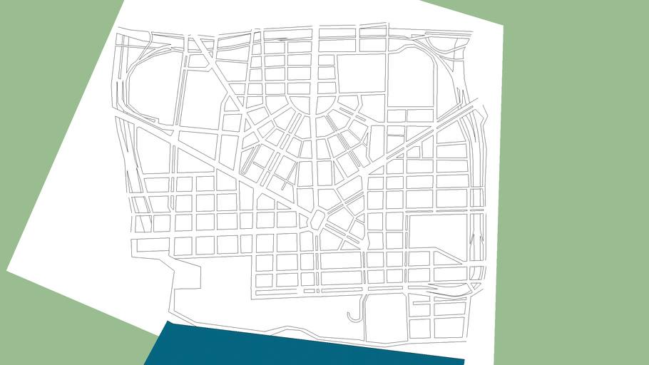 Downtown Detroit Map