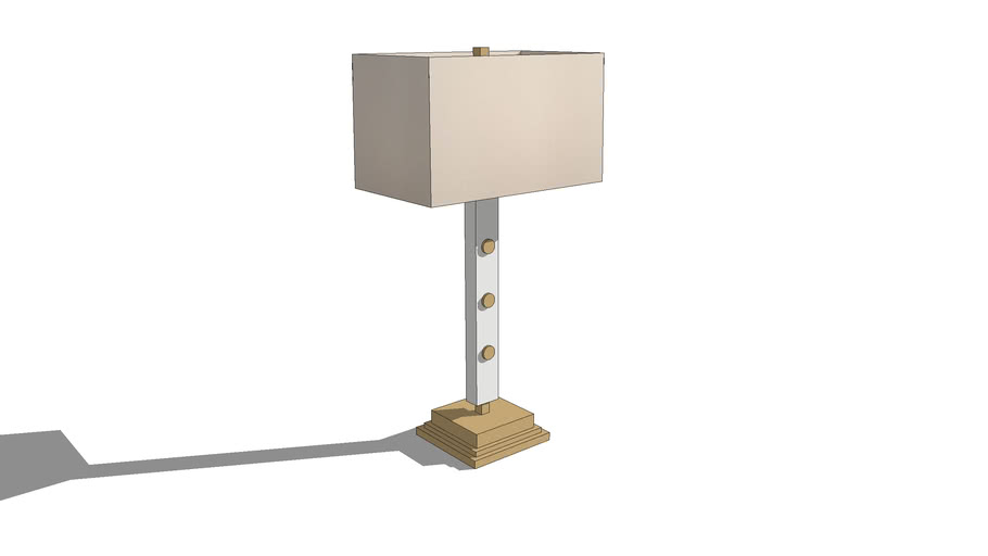 Currey & Company Table Lamp White and Gold Square Shade