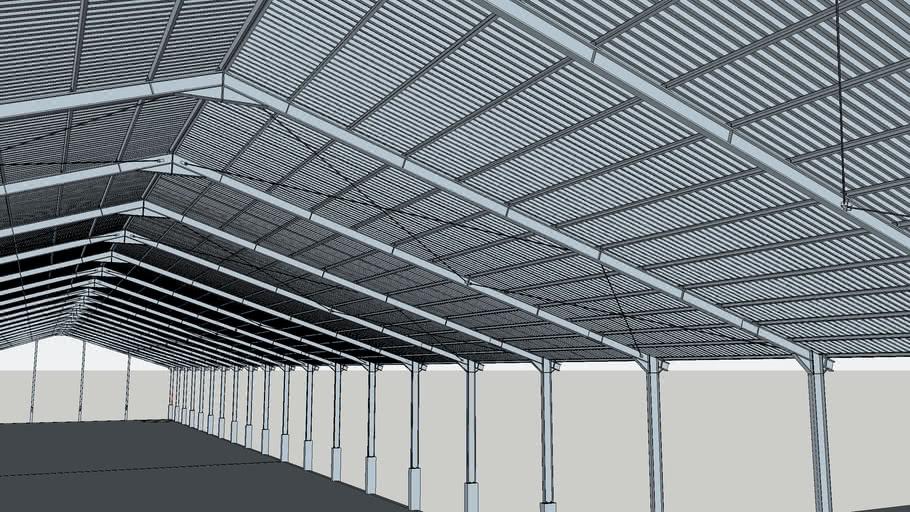Desain Gudang Baja 3d Warehouse