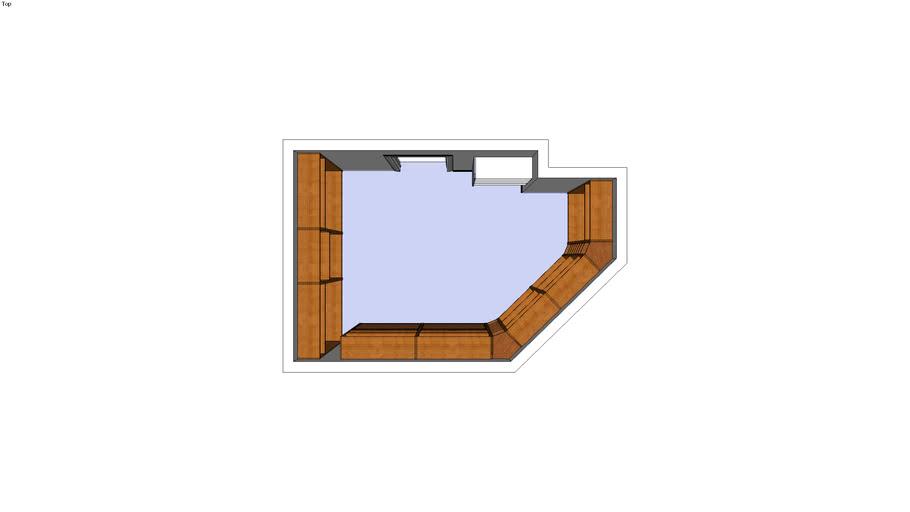 Master closet, irregular shape