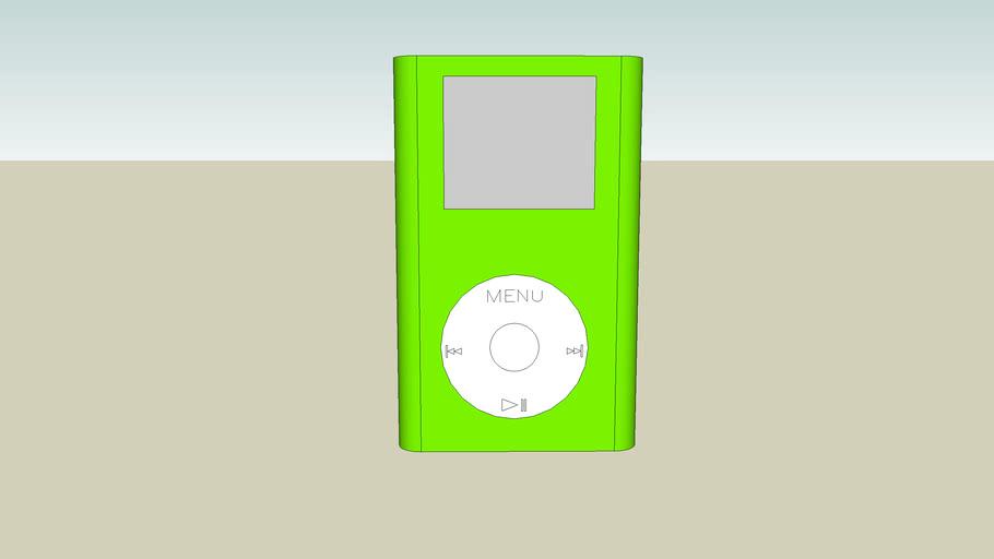 Green Ipod Mini (actual size)