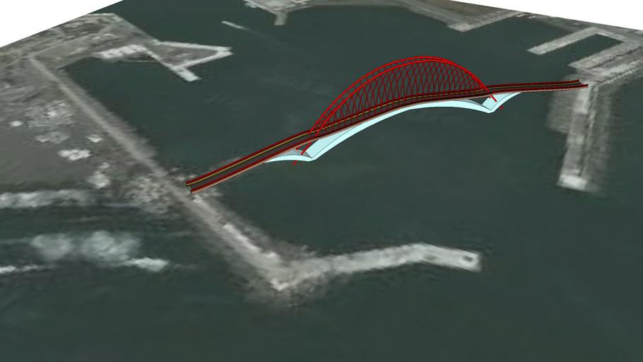 美麗的烏石港腳踏車景觀橋