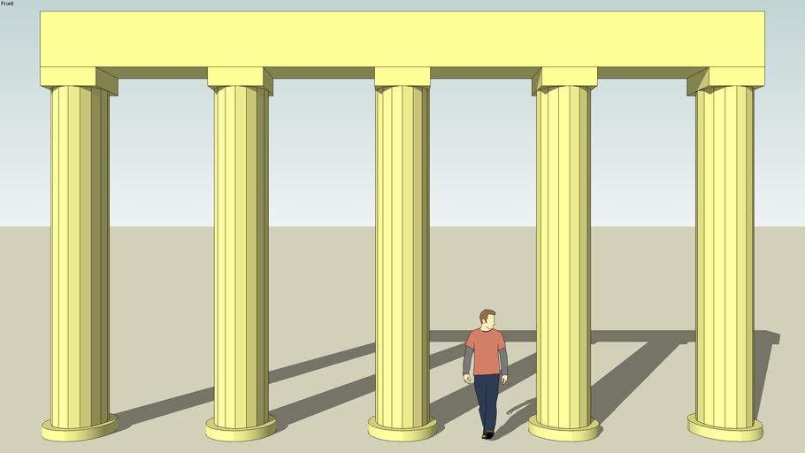 Columns - Queen Hatshepsut Temple - Deir El Bahari, Thebes, Luxor , Egypt